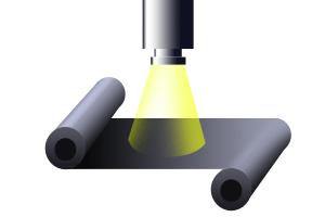 フィルム測定における厚膜計の光源