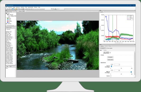 Resononハイパースペクトルカメラ撮影・解析ソフト Spectronon