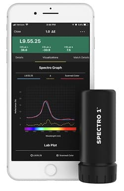 スマートフォン対応型 小型分光測色計 Spectro1<sup>TM</sup>
